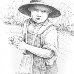 Cotton Picker - Mark Tucci Original Pen & Ink Sketch