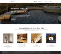 Conway Tile Responsive Website Design