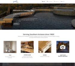 Conway Tile Responsive Website Design