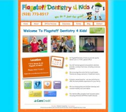 Flagstaff Dentistry 4 Kids Responsive Website Design