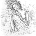 Medusa of the Desert - Mark Tucci Original Pen & Ink Sketch