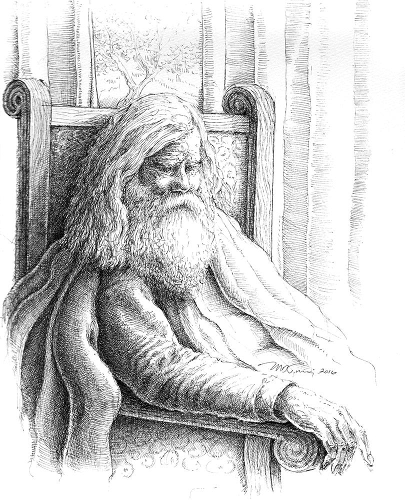 Old ink illustrations